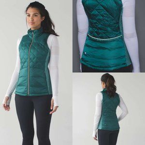 Lululemon Down For A Run Vest in Forage Teal Green